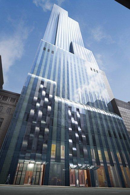 Башня Carnegie 57 (One57) © Atelier Christian de Portzamparc