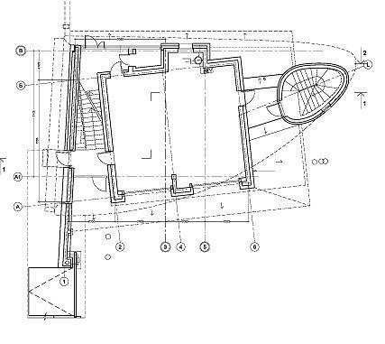 План 1 этажа. Усадьба в Подмосковье