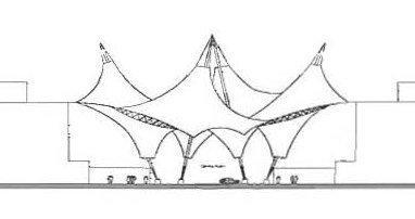Центр новых технологий и инноваций Аризонского университета. Схема центральной конструкции