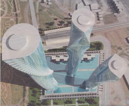 Башни «Торре Валенсия», «Кастелло» и «Аликанте»