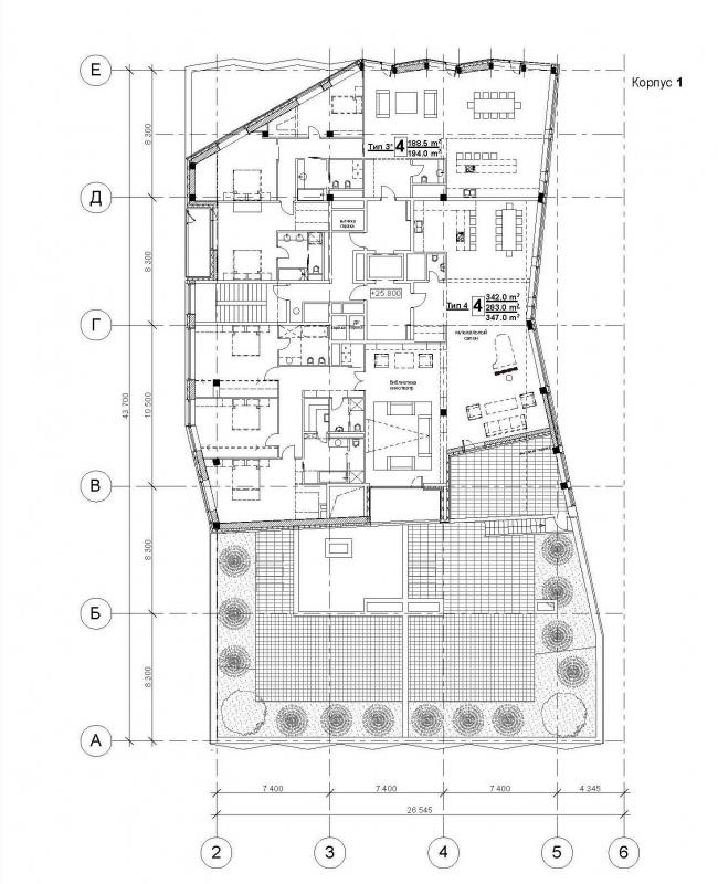 План восьмого этажа