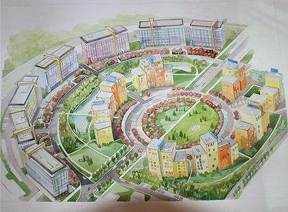 Проект технопарка в сфере высоких технологий в Невском районе Петербурга. бюро HOK