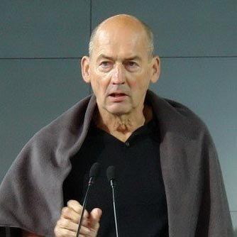 Рем Колхас (во время его первого выступления в институте «Стрелка» 25 мая 2010 года). Фотография Нины Фроловой