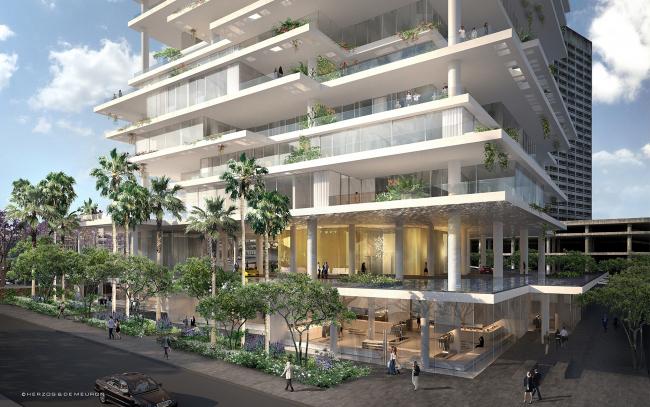 Жилой комплекс Beirut Terraces © Herzog & de Meuron