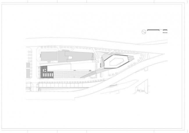 Штаб-квартира компании CMA CGM. Ситуационный план © Zaha Hadid Architects
