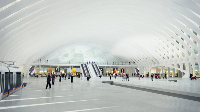 Железнодорожная станция и гостиница в Международном аэропорту Денвера