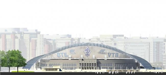 ВТБ Арена парк. Проект реконструкции стадиона «Динамо». Вид со стороны Ленинградского шоссе