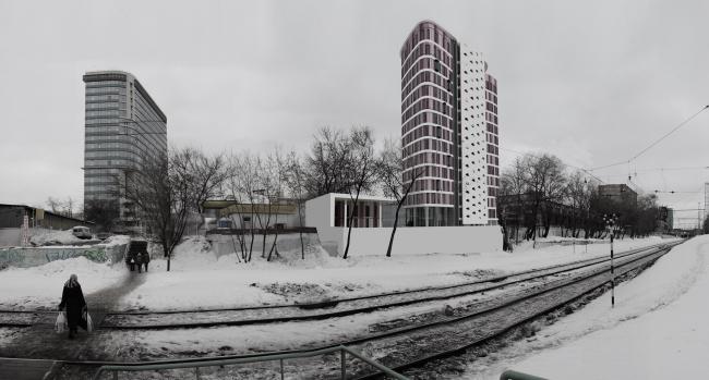 Многофункциональное здание в Бумажном проезде © ПТАМ Виссарионова