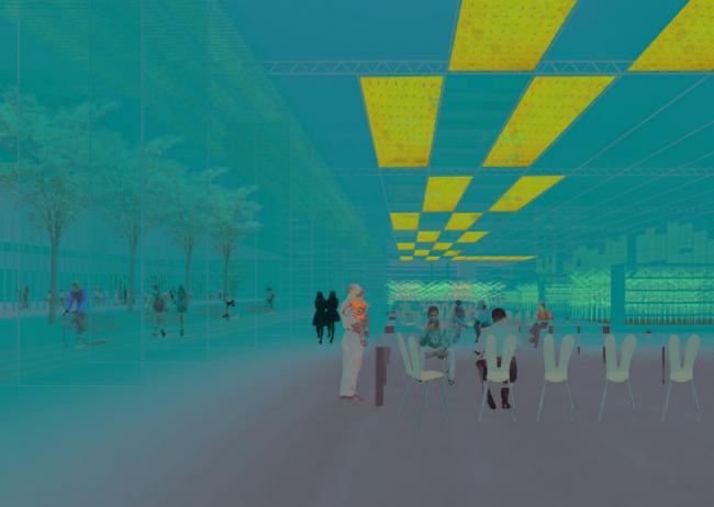 Студия Enviroments of Collectivity. Олимпийская деревня в Амстердаме: мультиклиматический город. Takaomi Koibuchi, Dae Hee Suk