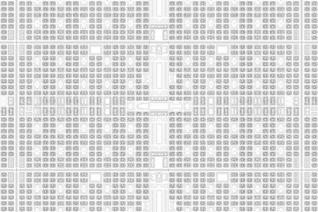 Студия Radical realism. Бесконечнй план модели урбанизации из «Большого города» Отто Вагнера (1910). Zetao Chen, Weiting Chen
