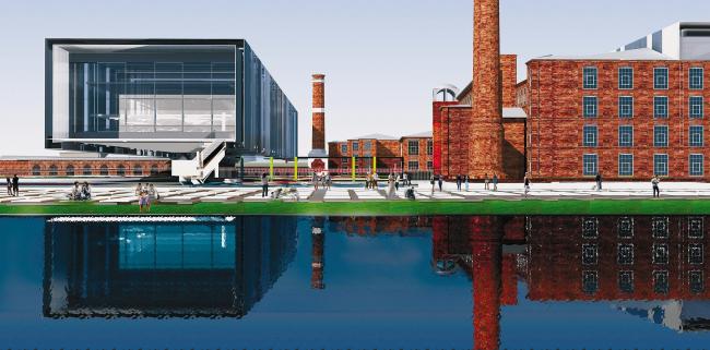 Проект «Фабрика Россия» для XII Венецианской биеннале архитектуры: фабрика Рябушинских, техно-развлекательный парк «Познание мира»