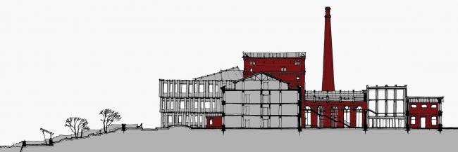 Проект «Фабрика Россия» для XII Венецианской биеннале архитектуры: регенерация фабрики «Парижская коммуна» с размещением конгресс-центра и конференц-отеля, жилья, школы искусств с выставочным и концертным залом