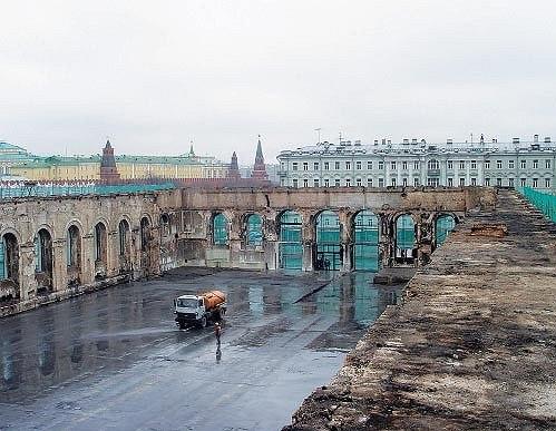 Московский манеж после пожара
