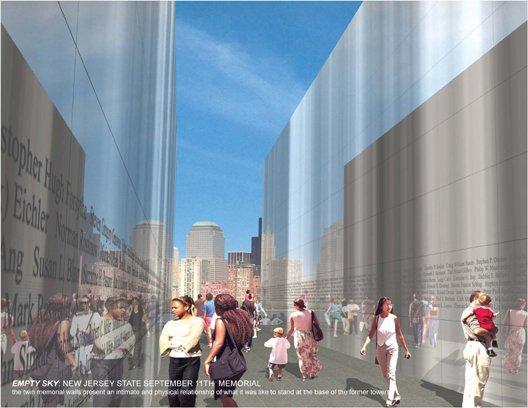 Мемориал жертв 11-го сентября, Джерси-Сити, Штат Нью-Джерси, 2011 г. Визуализация © Frederic Schwartz Architects