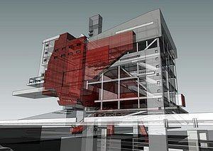 Музей-галерея современной архитектуры Якова Чернихова.  Конкурсный проект Рузаля Фархуллина