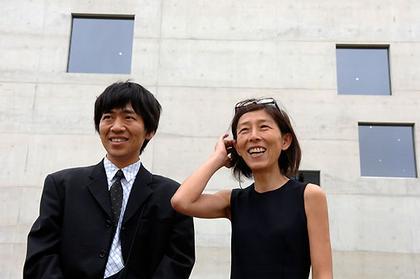 Рюэ Нишидзава и Кадзюо Седжима на открытии Школы Цольферайн