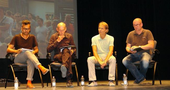 Шумон Базар, Рем Колхас, Михаэль Шиндхельм, Рейнир де Граф. Фото Нины Фроловой