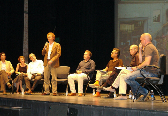 Презентация института Стрелка в театре Пикколо Арсенале. Фото Нины Фроловой