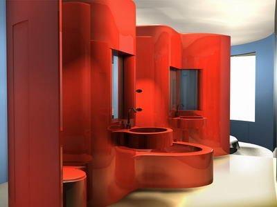 Проект интерьера дизайнерского отеля в Мадриде Puerta de America. Рон Арад спроектировал 7 этаж