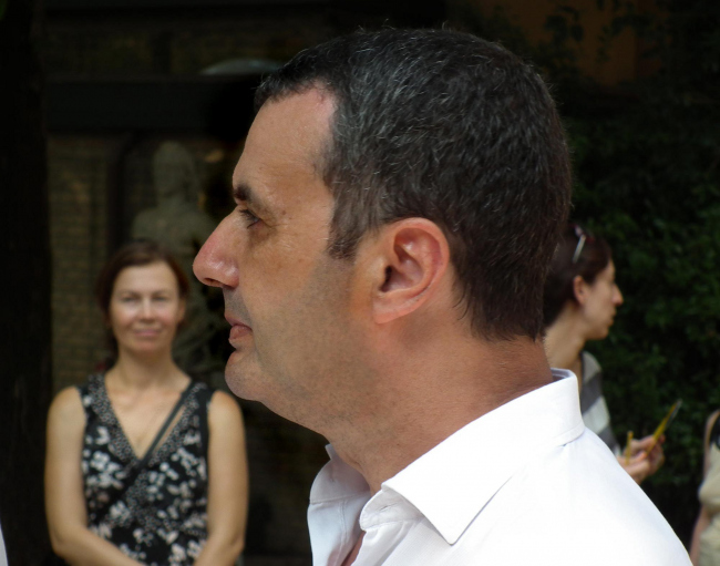 Владимир Плоткин (ТПО «Резерв»), автор проекта реконструкции фабрики Рябушинских (одного из архитектурных проектов, вошедших в состав экспозиции «Фабрика Россия»).