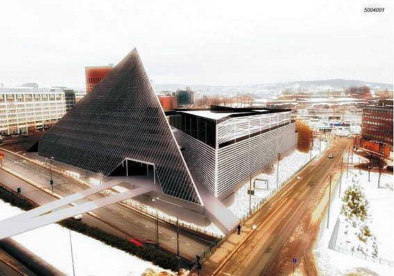 Эскизный проект Национального музея в Вестбанене, г. Осло. Мастерская Архибрук