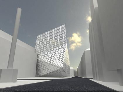 Заха Хадид. Офисное здание на площади Сервита. Проект