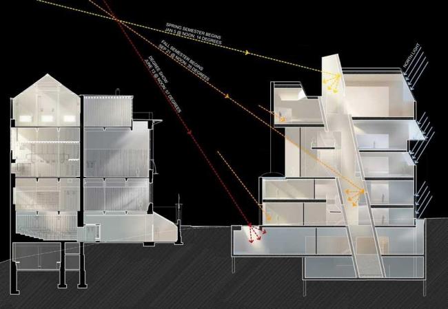 Новый корпус Школы искусств Глазго © Steven Holl Architects