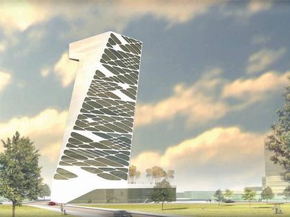 Asymptote. Проект банковского центра для северного Пешта. Вариант повышенной этажности