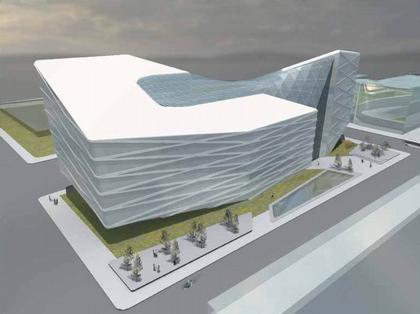 Asymptote. Проект банковского центра для северного Пешта