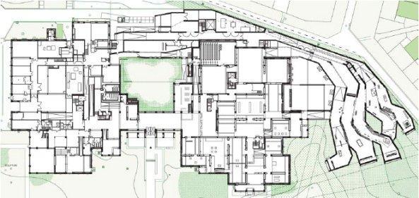 Музей современного искусства метрополии Лилля: новое крыло - справа