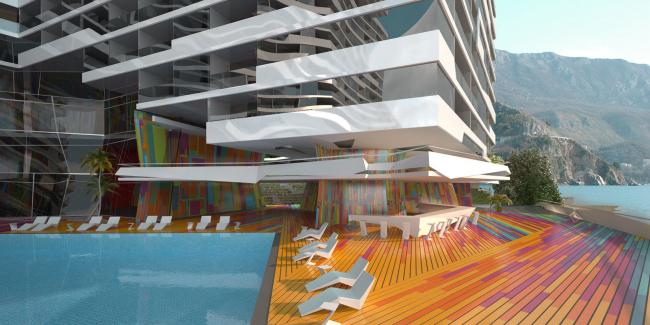 Апарт-отель с подземным паркингом в г. Рафаиловичи(Черногория) © Архитектурное бюро «Тотемент/Пейпер»