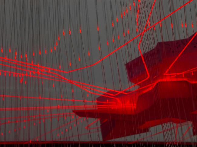Архитектурная инсталляция «0,03...0,3...3,0...30...300...3000... Тройка или ноль?» © Архитектурное бюро «Тотемент/Пейпер»