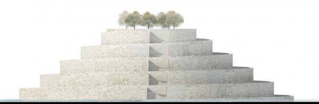 Архитектурная концепция музея истории Казахстана © Архитектурное бюро «Студия 44»