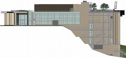 Театр-студия «Мастерская П. Фоменко». Восточный фасад (вид со стороны набережной) © Сергей Гнедовский