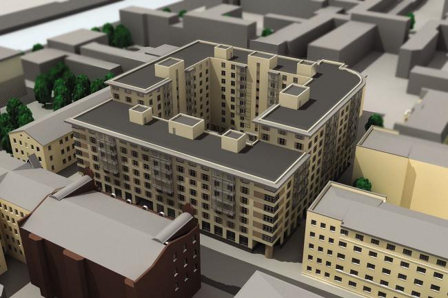 Жилой комплекс на улице Егорова © Евгений Герасимов и партнеры