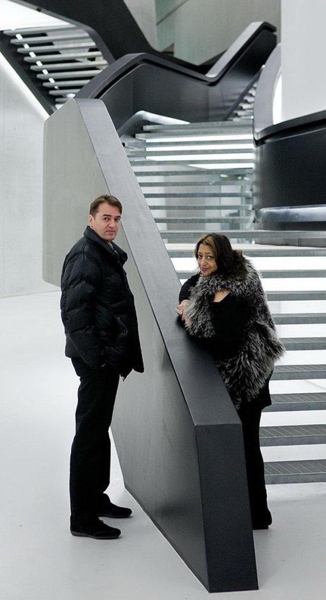 Заха Хадид и Патрик Шумахер в MAXXI. Фото © Iwan Baan