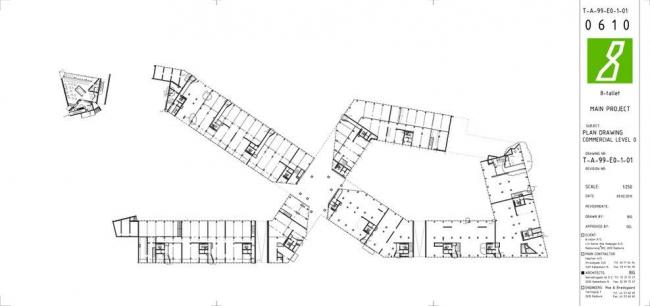 Жилой комплекс 8 HOUSE. План 1-го (нежилого) этажа © BIG
