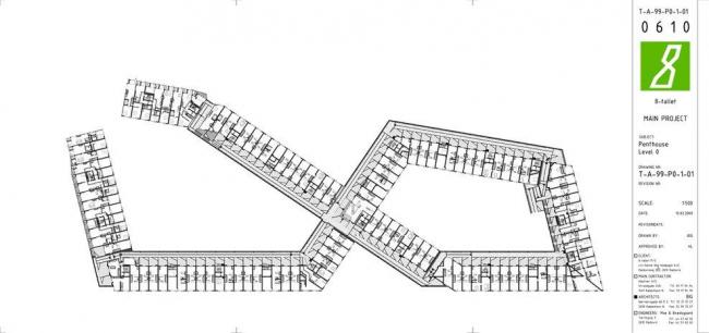 Жилой комплекс 8 HOUSE. План верхнего этажа © BIG