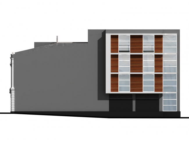 Административное здание на Большой Дмитровке д. 18/10 стр. 2. Вариант  облицовки  фасада © Александров и партнеры