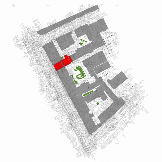 Административное здание на Большой Дмитровке д. 18/10 стр. 2. Генеральный план © Александров и партнеры