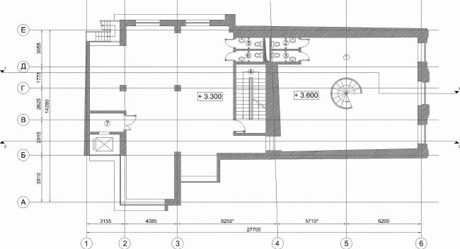 Административное здание на Большой Дмитровке д. 18/10 стр. 2. План 2-го этажа © Александров и партнеры