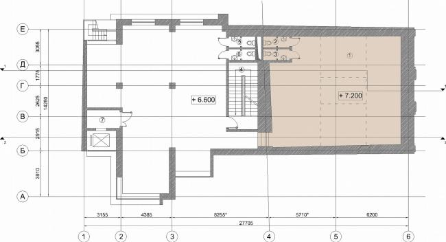 Административное здание на Большой Дмитровке д. 18/10 стр. 2. План 3-го этажа © Александров и партнеры