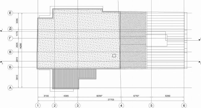 Административное здание на Большой Дмитровке д. 18/10 стр. 2. План крыши © Александров и партнеры