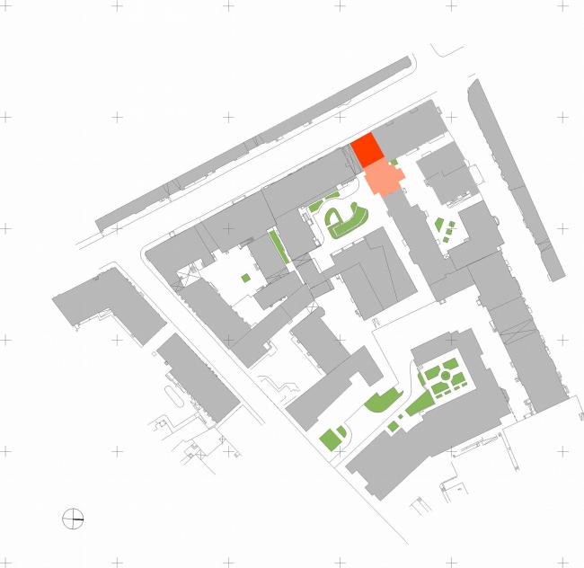 Административное здание на Большой Дмитровке д. 18/10 стр. 2. Ситуационный план © Александров и партнеры