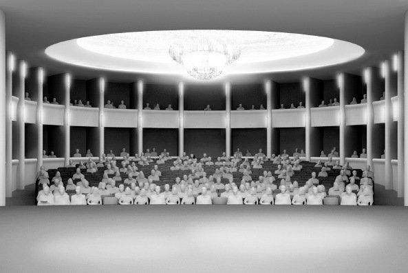 Комплекс Kudamm-Karree - реконструкция. Зал Театра Комедии
