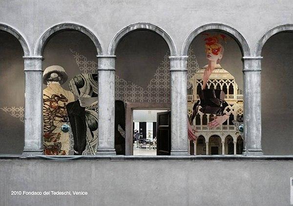 Проект реконструкции Фондако деи Тедески. Фрески © OMA