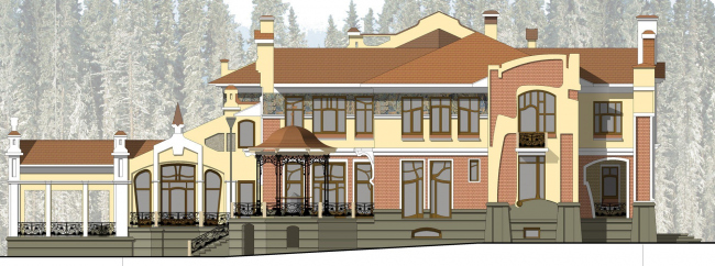 Западный боковой фасад