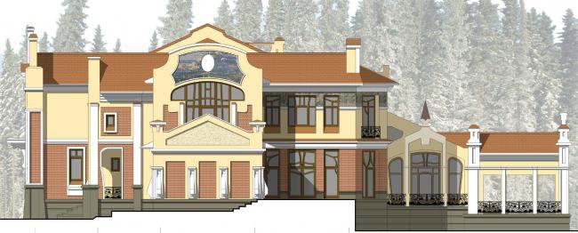 Восточный боковой фасад
