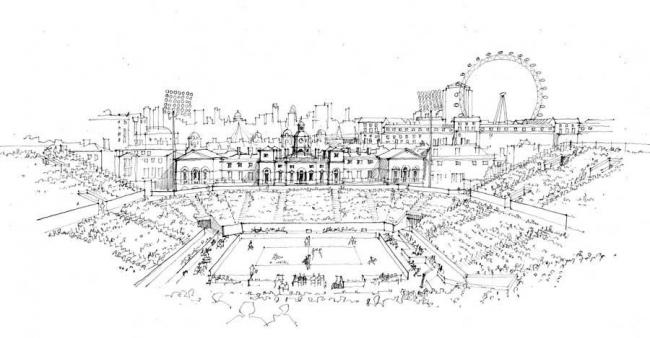 Олимпийский стадион для пляжного волейбола © Populous