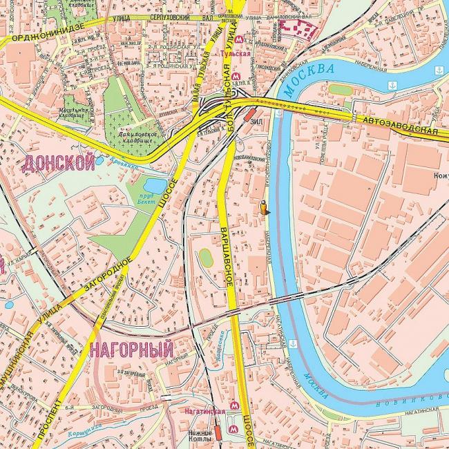 положение участка в городе - между станциями метро Нагатинская и Тульская